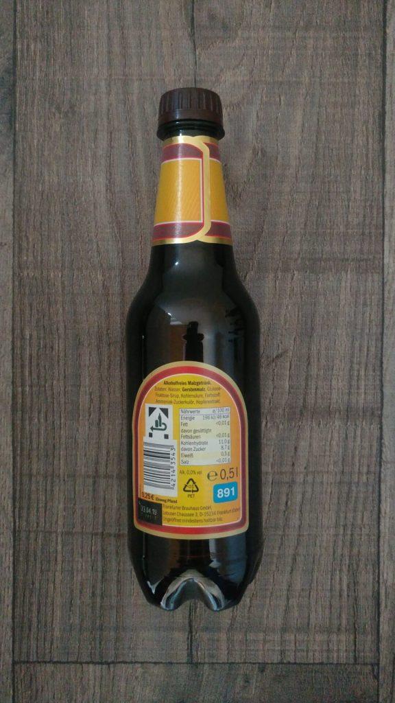 Perlenbacher Malz Flasche Rückseite