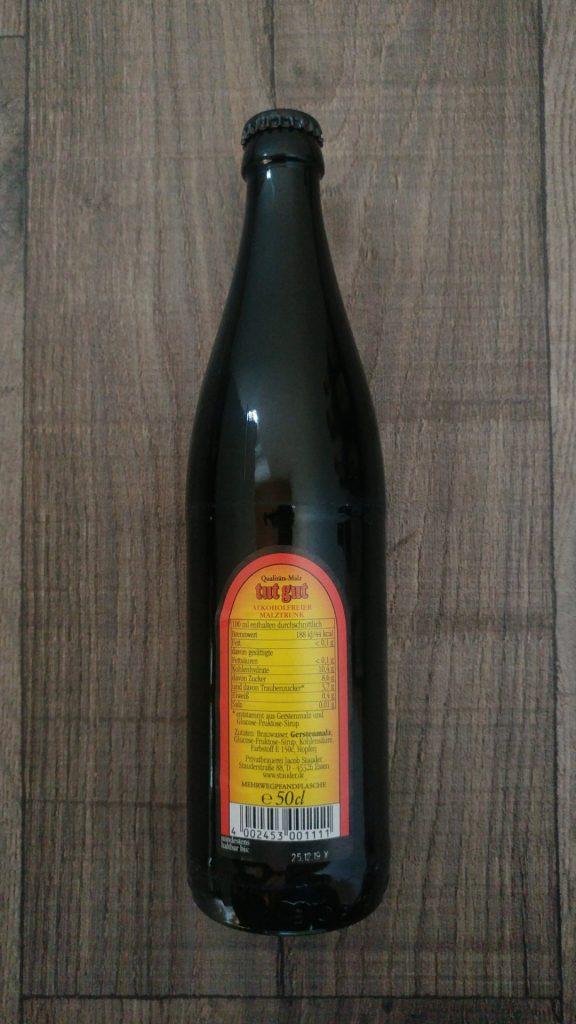 tut gut Flasche Rückseite