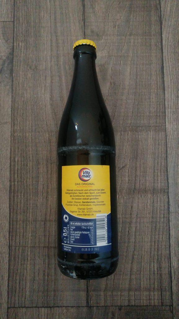 Vitamalz Flasche Rückseite