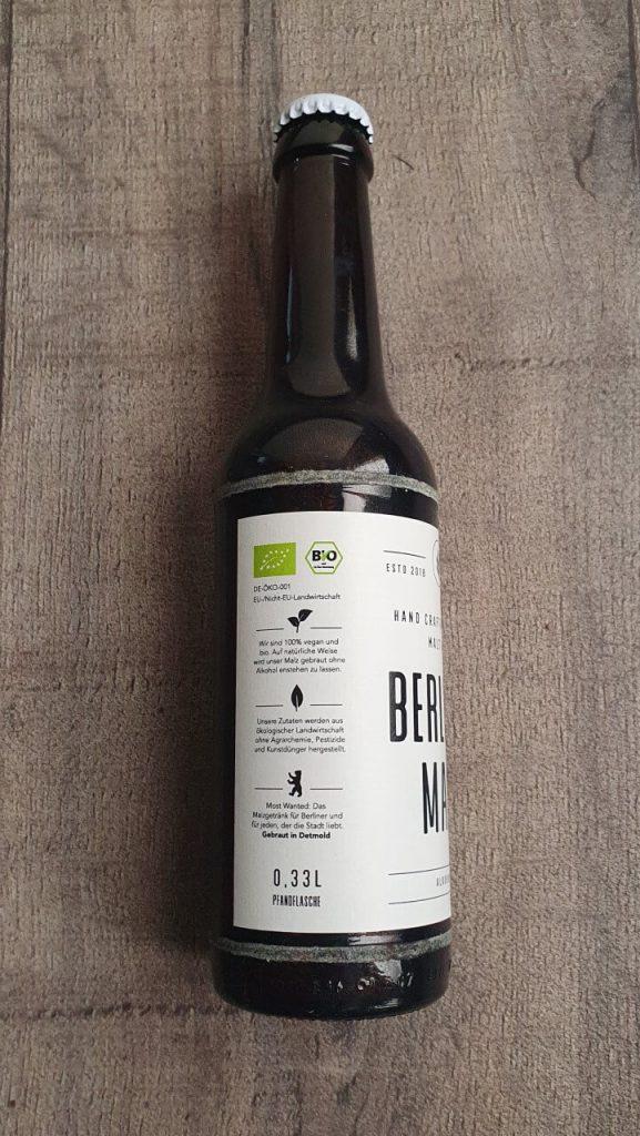 Berliner Malz Flasche Seite